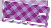Purple Plaid Side Tear Checks