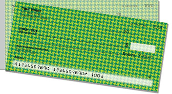 Green Houndstooth Side Tear Checks
