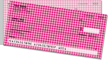 Pink Houndstooth Side Tear Checks