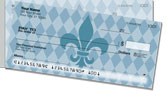 Blue Fleur de Lis Side Tear Checks