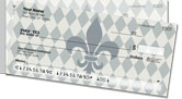 Silver Fleur de Lis Side Tear Checks