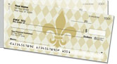 Gold Fleur de Lis Side Tear Checks