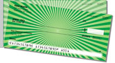 Green Starburst Side Tear Checks