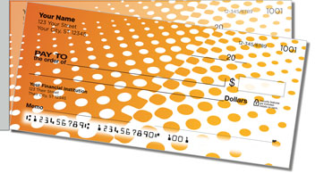 Orange Halftone Side Tear Checks