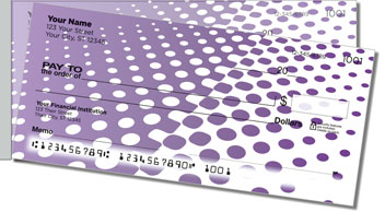 Purple Halftone Side Tear Checks