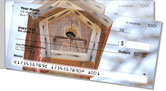 Wooden Birdhouse Side Tear Checks