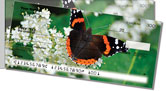 Red Admiral Butterfly Side Tear Checks