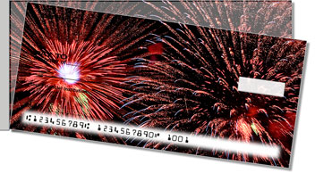 4th of July Fireworks Side Tear Checks