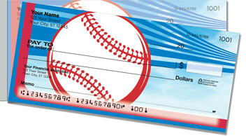 Red & Blue Baseball Fan Side Tear Checks
