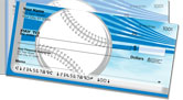 Silver & Blue Baseball Fan Side Tear Checks