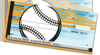 Orange & Black Baseball Fan Side Tear