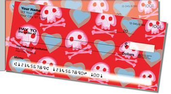 Cute Skull & Crossbones Side Tear Checks