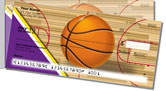 Purple & Gold Basketball Side Tear Checks