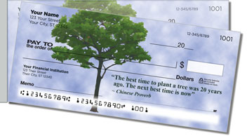 Arbor Day Quote Side Tear Checks