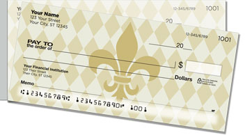 Classic Fleur de Lis Side Tear Checks