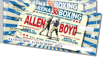 Vintage Boxing Side Tear Checks