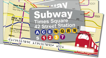 New York Subway Side Tear Checks