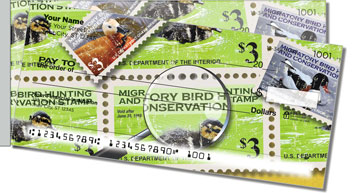 Duck Stamp Side Tear Checks