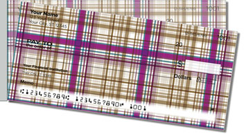 Plaid Pattern Side Tear Checks