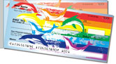 Rainbow Dolphin Side Tear Checks