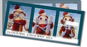 Sock Monkey Side Tear Checks