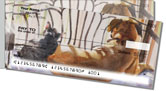 Dog and Cat Painting Side Tear Checks