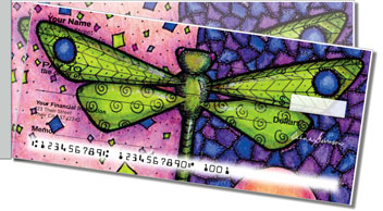 Dragonfly Art Side Tear Checks