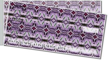 Purple Pattern Side Tear Checks