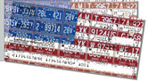Americana License Plate Side Tear Checks