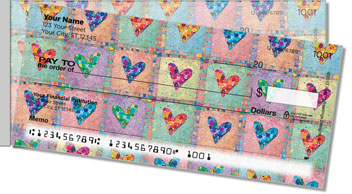 Patchwork Heart Side Tear Checks