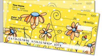 Orange Daisies Side Tear Checks