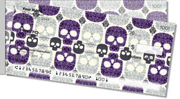 Damask Skull Side Tear Checks
