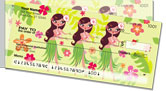 Hula Girl Side Tear Checks