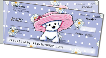 Bichon Frise Girls Side Tear Checks
