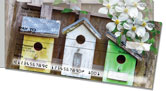 Country Birdhouse Side Tear Checks